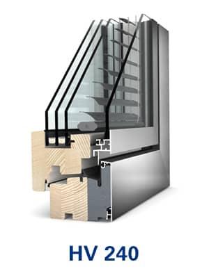 Internorm Holz Alu Fenster mit Sonnenschutz vom Fensterzentrum München